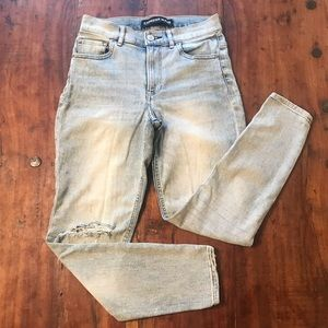 Express Cropped High Rise Skinny Jeans size 4